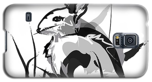 Rabbit Bunny Black White Grey Galaxy S5 Case