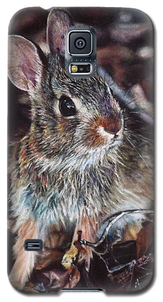 Galaxy S5 Case featuring the painting Rabbit In The Woods by Joshua Martin