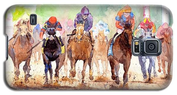 White Horse Galaxy S5 Case - Race Day by Max Good