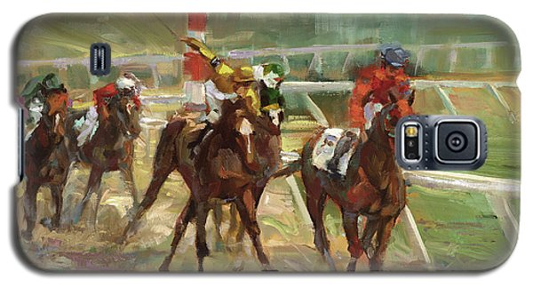 Sport Galaxy S5 Case - Race Horses by Laurie Snow Hein