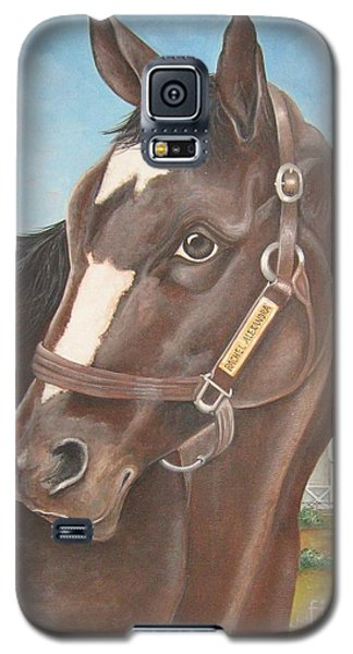 Galaxy S5 Case featuring the painting Rachel Alexandra At Stonestreet Farms by Patrice Torrillo