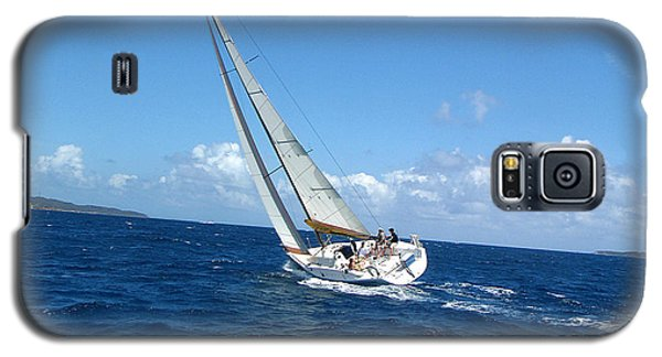 Galaxy S5 Case featuring the photograph Racing At St. Thomas 2 by Tom Doud