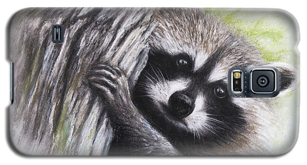Galaxy S5 Case featuring the drawing Raccoon  by Patricia Lintner