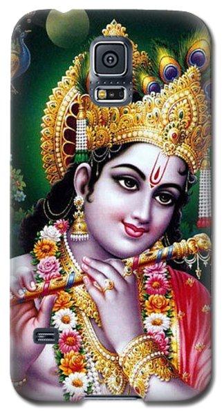 Radha Krishna Idol Hinduism Religion Religious Spiritual Yoga Meditation Deco Navinjoshi  Rights Man Galaxy S5 Case by Navin Joshi