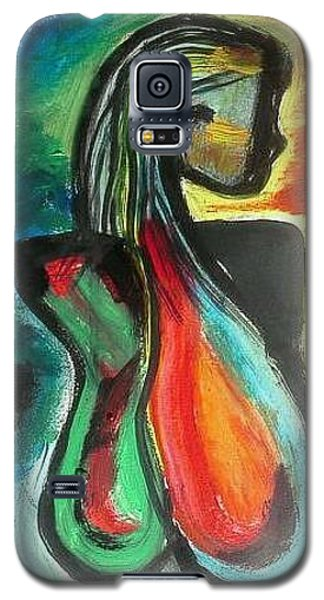 Galaxy S5 Case featuring the painting Radiant by Carol Duarte