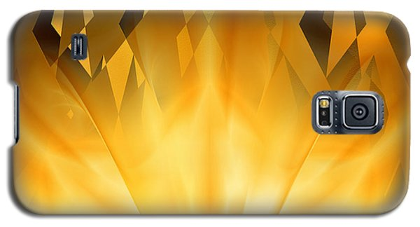 Galaxy S5 Case featuring the digital art Radiant Gold by rd Erickson