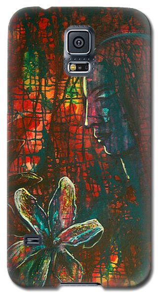 Galaxy S5 Case featuring the painting Radiating Light by Mini Arora