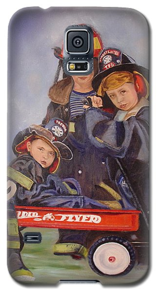 Galaxy S5 Case featuring the painting Radio Flyer by Sharon Schultz