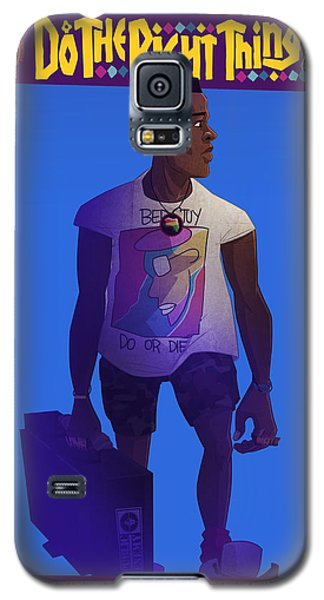 Galaxy S5 Case featuring the drawing Radio Raheem by Nelson Dedos Garcia