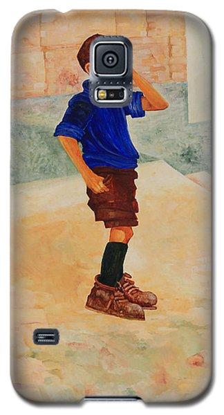 Galaxy S5 Case featuring the painting Forenza Vita Ragazzo In Via Salita Trappeto by Giovanni Caputo