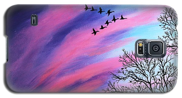 Raging Sky And Canada Geese Galaxy S5 Case