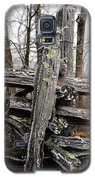 Rail Fence With Ice Galaxy S5 Case