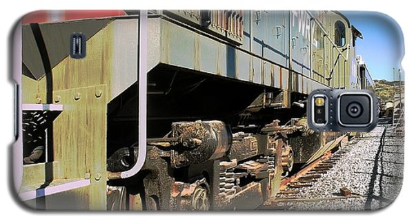 Galaxy S5 Case featuring the photograph Rail Truck by Michael Gordon