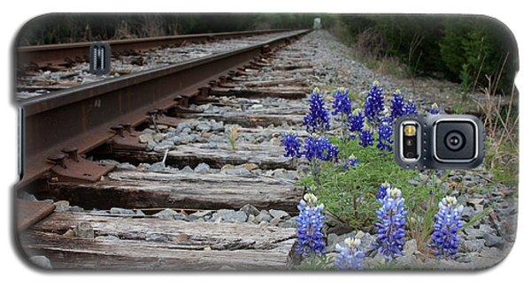 Railroad Bluebonnets Galaxy S5 Case by Jerry Bunger