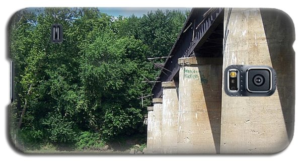 Galaxy S5 Case featuring the photograph Railroad Bridge by John Mathews