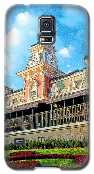 Railroad Station Magic Kingdom Walt Disney World Galaxy S5 Case by A Gurmankin