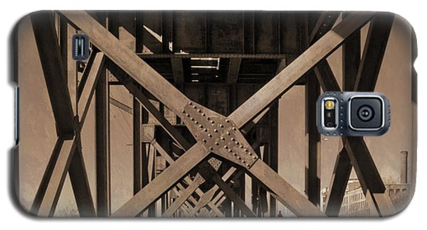 Railroad Trestle Sepia Galaxy S5 Case
