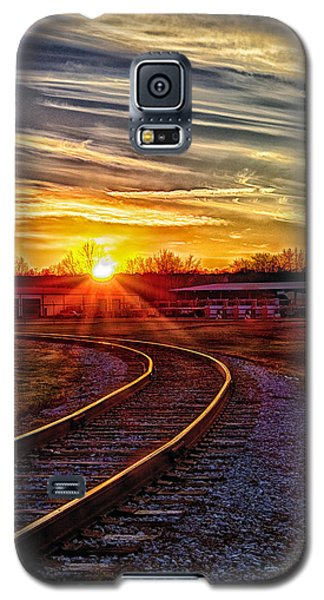 Galaxy S5 Case featuring the photograph Rails by Skip Tribby