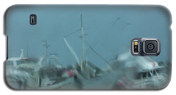 Galaxy S5 Case featuring the photograph Rain Boats by Evelyn Tambour