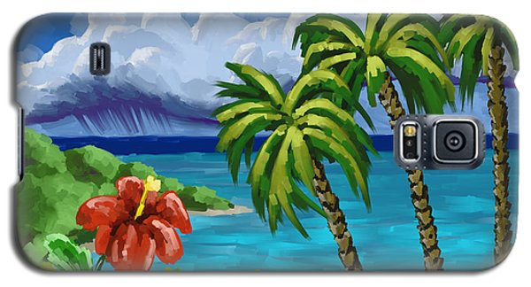 Galaxy S5 Case featuring the painting Rain In The Islands by Tim Gilliland