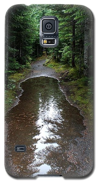 Galaxy S5 Case featuring the photograph Rain Puddle - Cheakamus Forest by Amanda Holmes Tzafrir