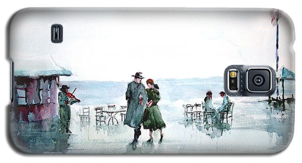 Galaxy S5 Case featuring the painting Rain Serenad - Moments Of Life... by Faruk Koksal