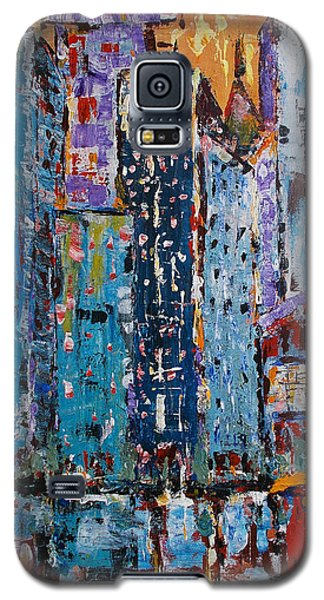 Galaxy S5 Case featuring the painting Rain by Zeke Nord
