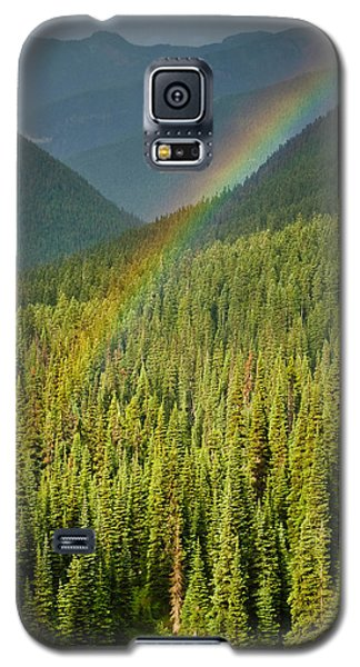 Rainbow And Sunlit Trees Galaxy S5 Case by Jeff Goulden