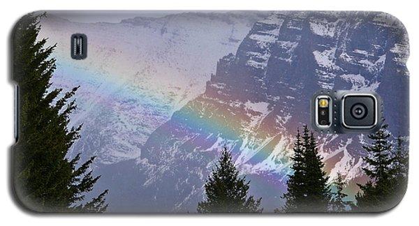 Rainbow At Glacier National Park Galaxy S5 Case