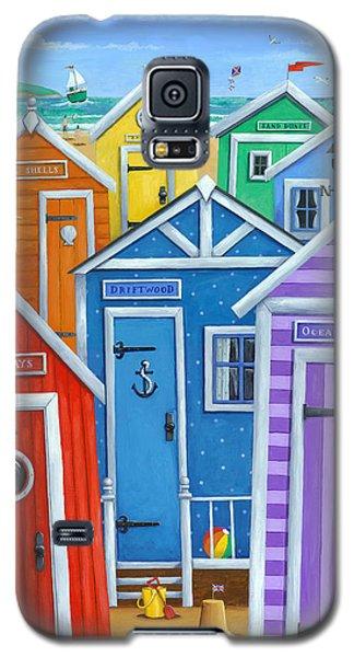 Rainbow Beach Huts Galaxy S5 Case