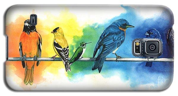 Animal Galaxy S5 Case - Rainbow Birds by Do'an Prajna - Antony Galbraith