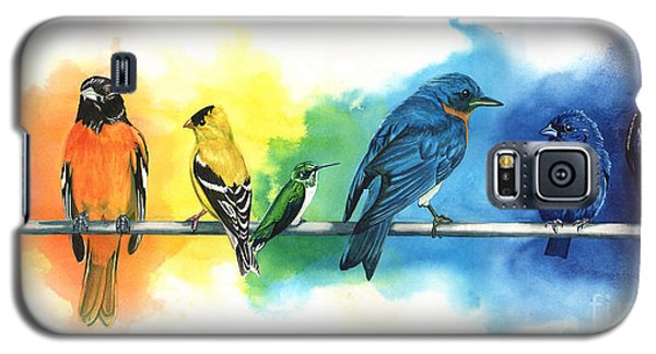 Rainbow Birds Galaxy S5 Case by Antony Galbraith