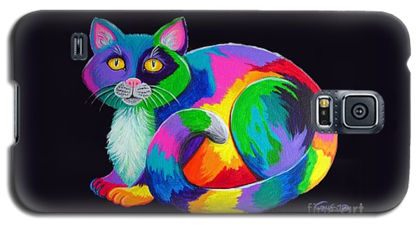 Rainbow Calico Galaxy S5 Case
