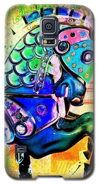 Rainbow Carousel Horse Galaxy S5 Case