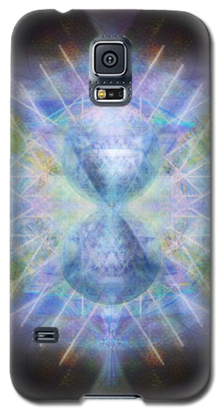 Galaxy S5 Case featuring the digital art Rainbow Chalice Cell Isphere Matrix by Christopher Pringer