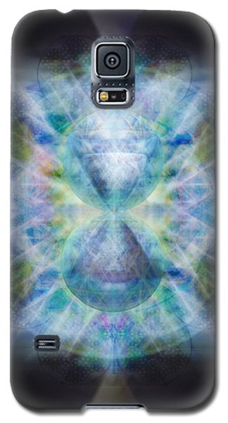 Galaxy S5 Case featuring the digital art Rainbow Chalice Cell Isphere Matrix II by Christopher Pringer