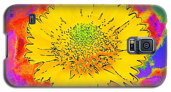 Rainbow Colored Sunshine Flower- Because I'm Happy Galaxy S5 Case by David Mckinney