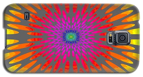 Rainbow Daisy Mandala  C2014  Galaxy S5 Case by Paul Ashby