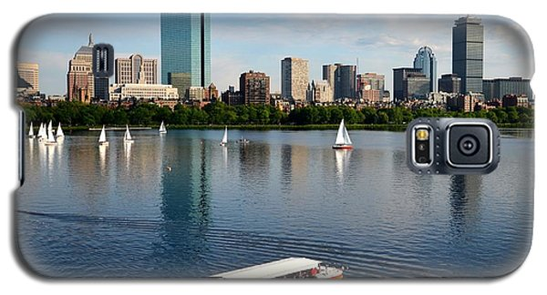 Rainbow Duck Boat On The Charles Galaxy S5 Case