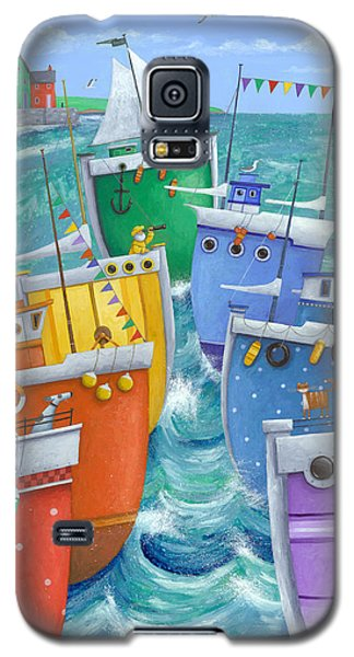 Transportation Galaxy S5 Case - Rainbow Flotilla by Peter Adderley
