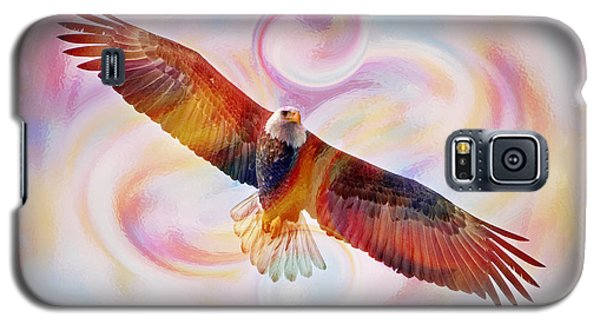 Rainbow Flying Eagle Watercolor Painting Galaxy S5 Case