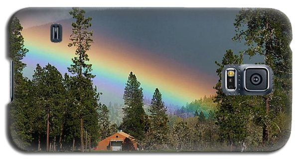 Galaxy S5 Case featuring the photograph Rainbow Forest by Julia Hassett