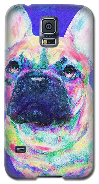 Rainbow French Bulldog Galaxy S5 Case by Jane Schnetlage