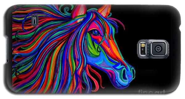 Rainbow Horse Head Galaxy S5 Case