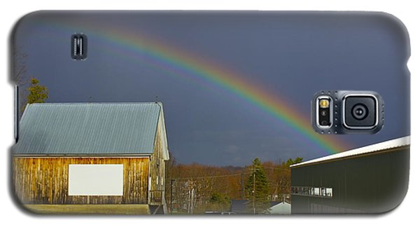 Galaxy S5 Case featuring the photograph Rainbow In Maine by Alice Mainville
