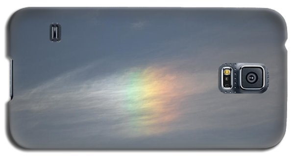 Galaxy S5 Case featuring the photograph Rainbow In The Clouds by Eti Reid