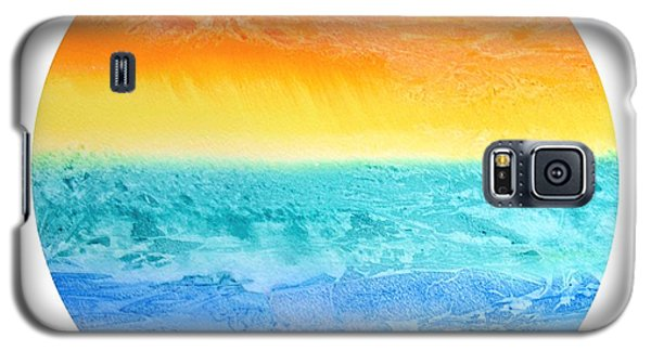 Galaxy S5 Case featuring the painting Rainbow Landscape  by Susan  Dimitrakopoulos