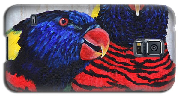 Rainbow Lorikeets Galaxy S5 Case by Penny Birch-Williams