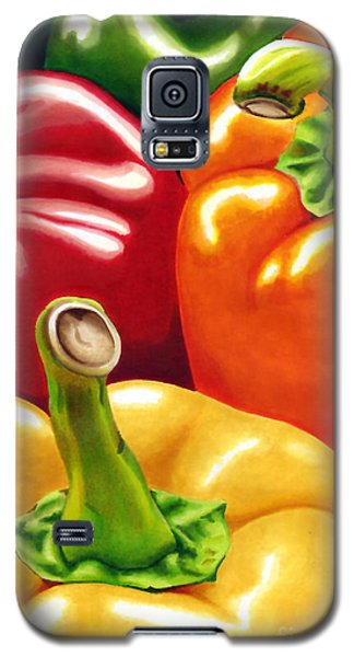 Rainbow Of Peppers Galaxy S5 Case
