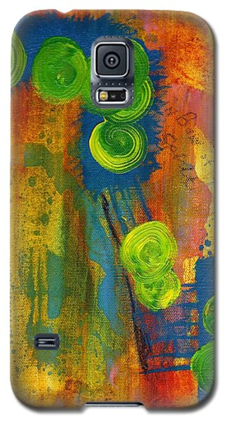 Galaxy S5 Case featuring the painting Rainbow Of The Spirit by Lesley Fletcher